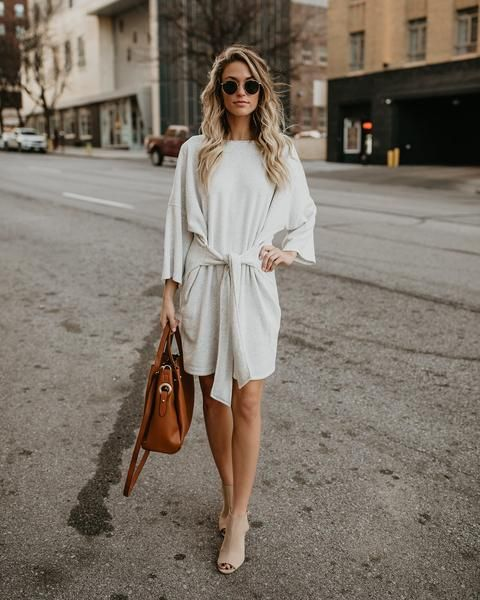 Top Of The World Knit Tie Dress