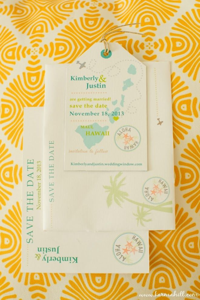 gorgeous wedding stationary, beautiful wedding invitations, maui ...