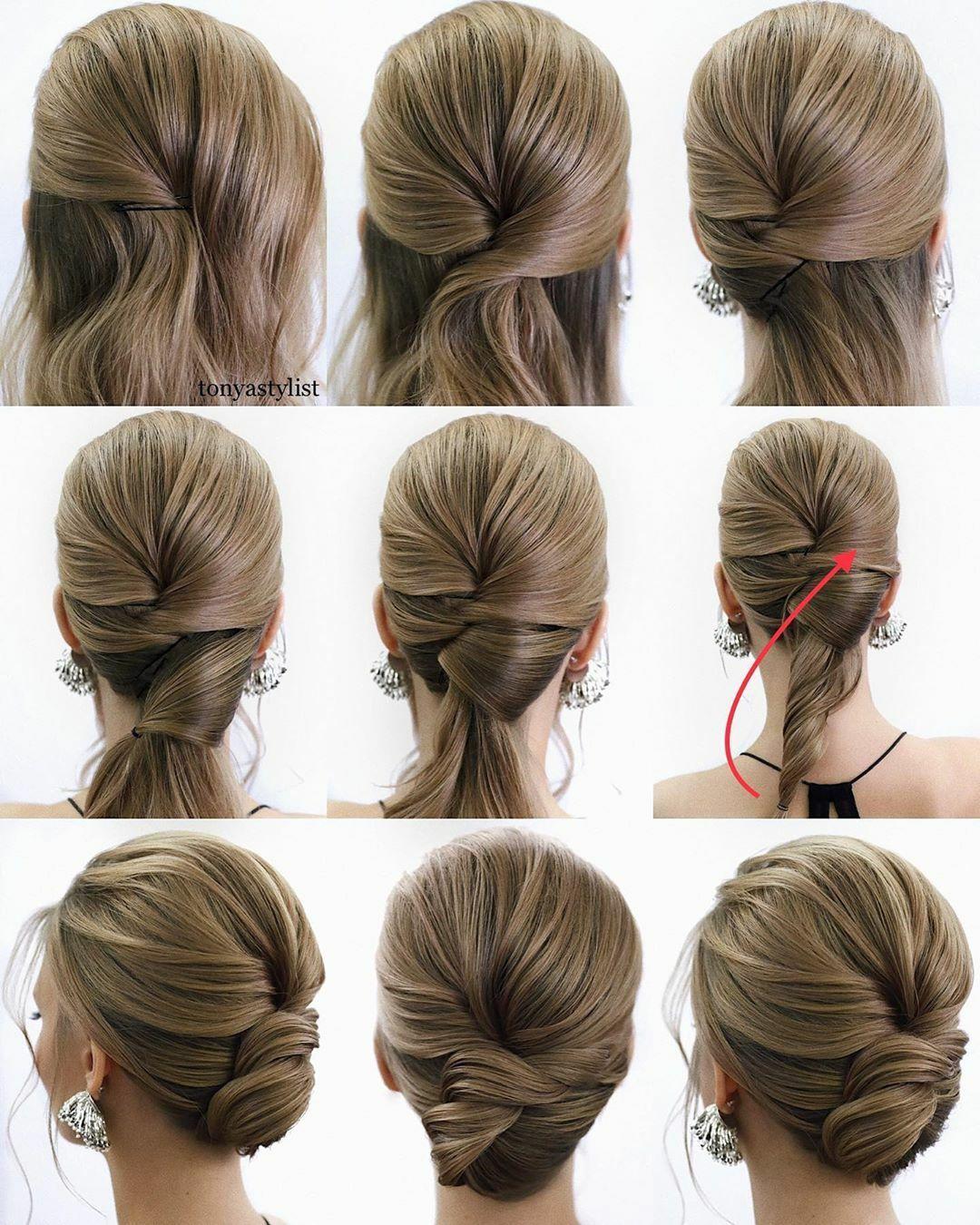 Hairstyles For Bridesmaids Step By Step Steckfrisuren Steckfrisuren Mittellang Schone Frisuren Mittellange Haare