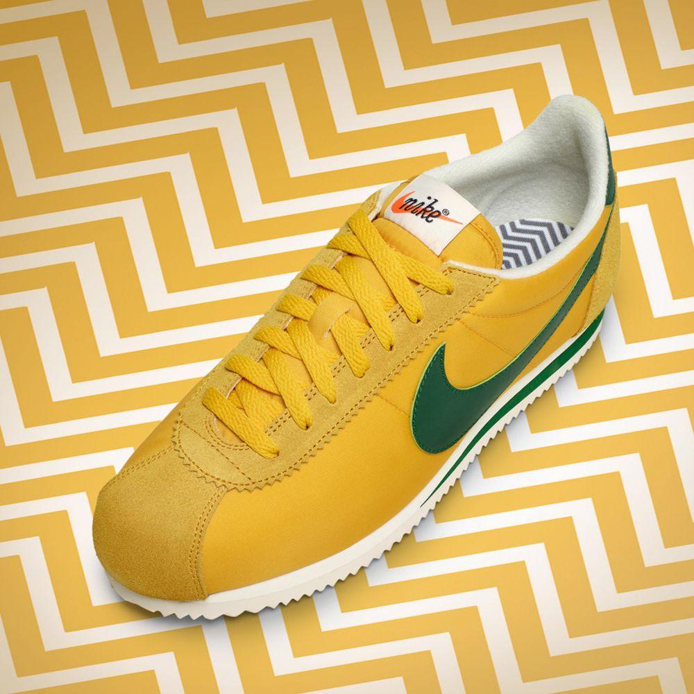 Nike Classic Cortez Nylon PREM (876873 Green 700) Yellow Ochre Gorge Green (876873 b0f28e