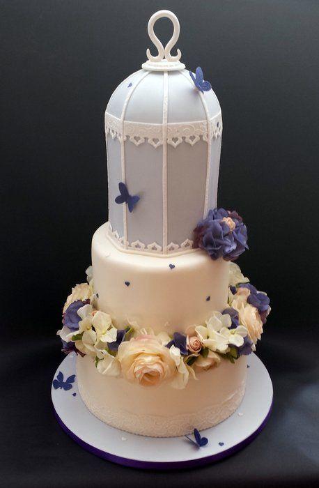 Birdcage Floral Wedding Cake By Chocomoo Cakesdecor Com Cake Decorating Website Floral Wedding Cake Birdcage Wedding Cake Cake