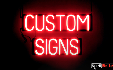 Custom Signs Neon Led Spellbrite Custom Sign Create Sign Business Signs