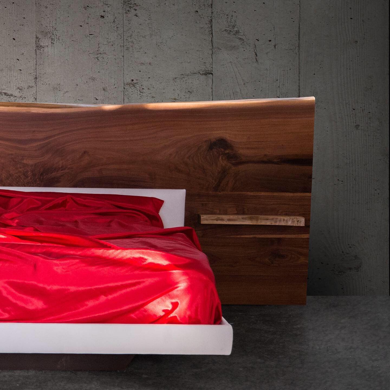 Platform Beds with Live Edge Headboard Live edge bed