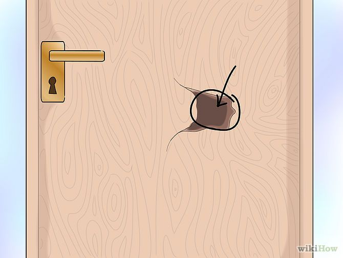 How To Repair A Damaged Hollow Core Door Hollow Core Doors Diy