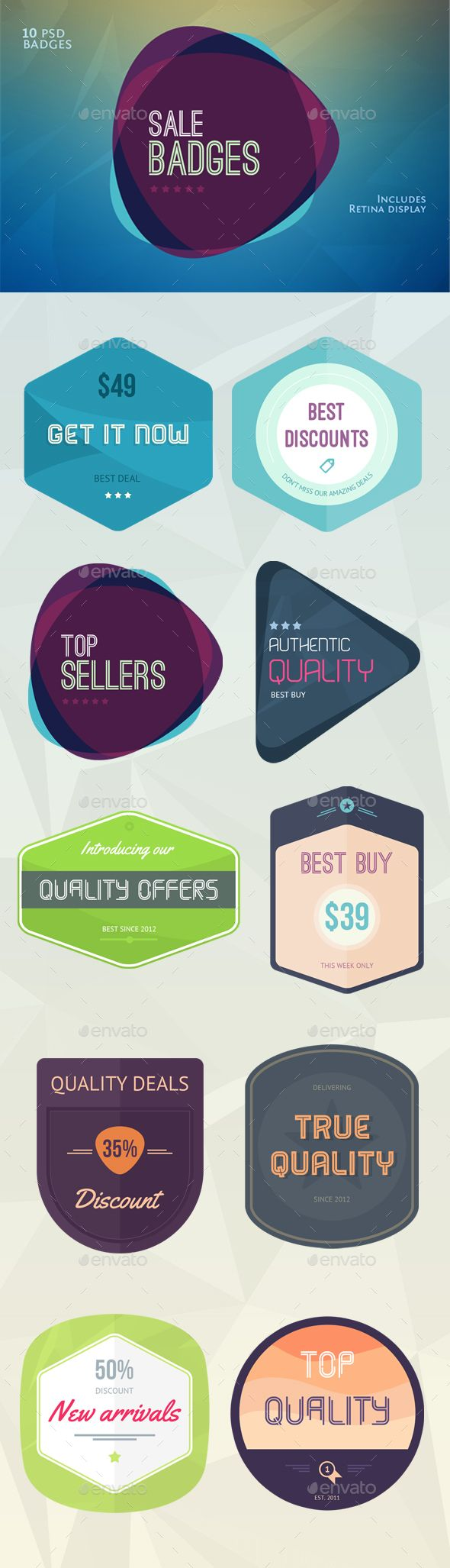 Flat Flavour Sales Badges  Badges Template And Badge Logo