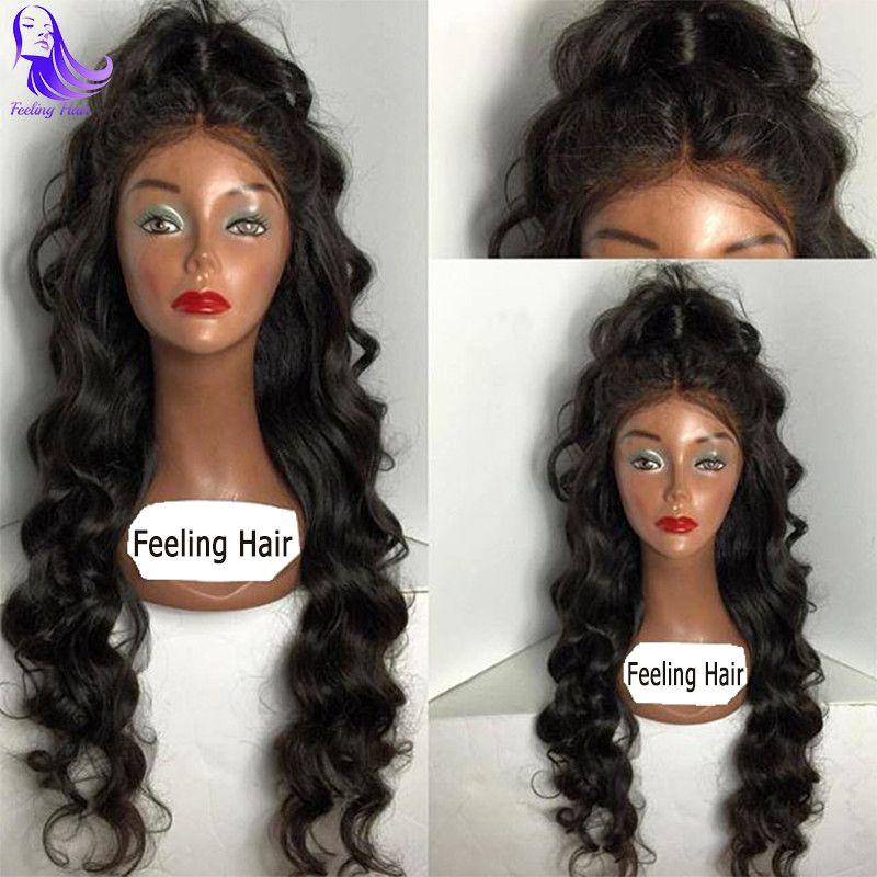 Brazilian Virgin Hair Wig Body Wave Glueless Full Lace