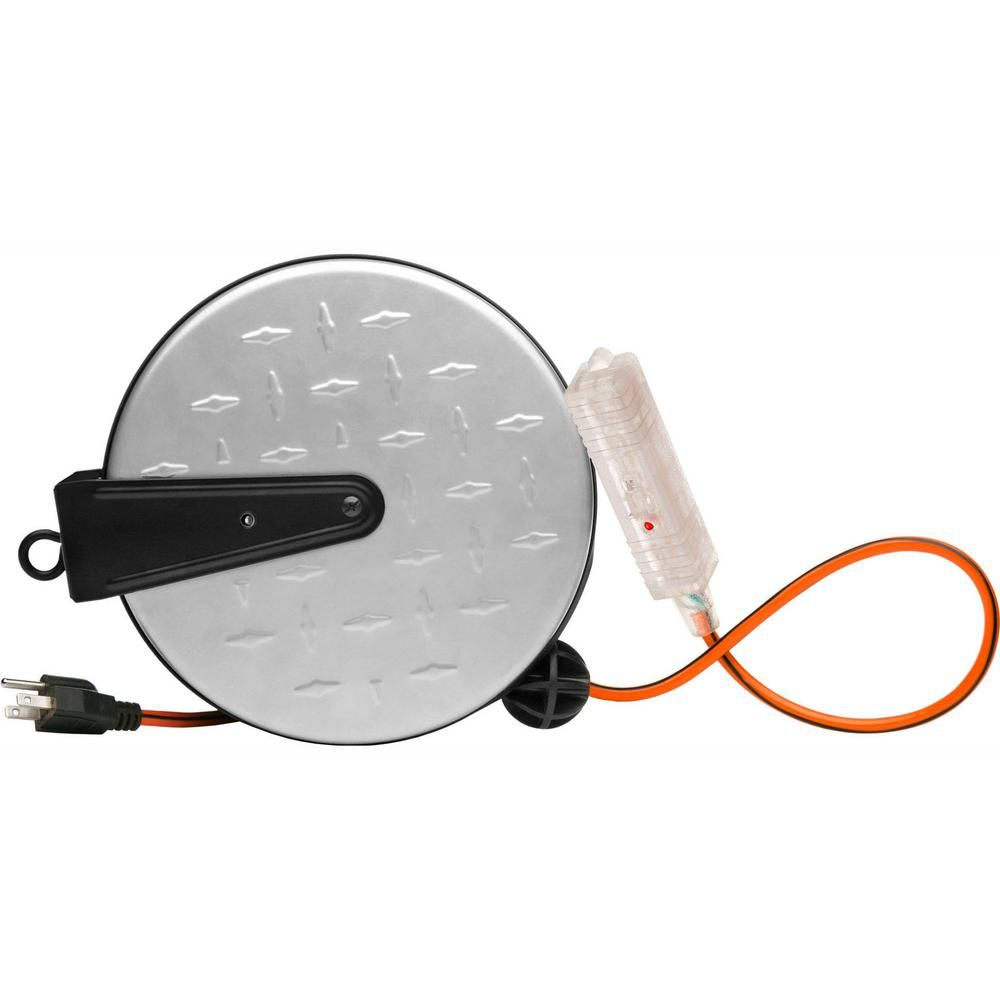 Southwire 30 Ft 16 3 Metal Retractable Extension Cord Reel