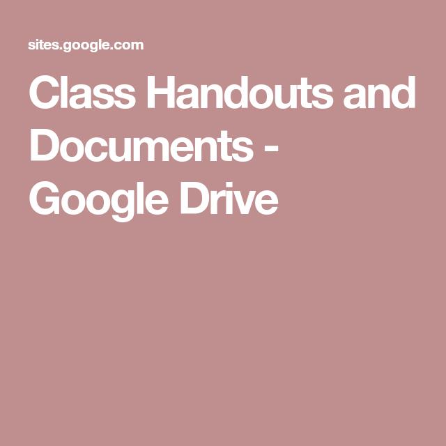 Class Handouts and Documents - Google Drive   AP Eng lit