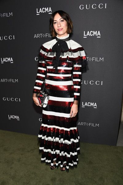 Gia Coppola in a striped frock - Best Dressed at the 2016 LACMA Art + Film Gala  - Photos
