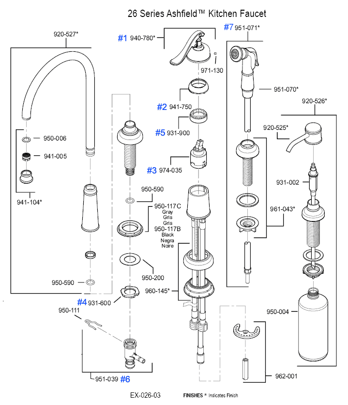 faucet parts diagram additionally moen kitchen faucet replacement