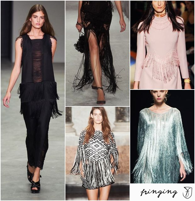 #Fringing as a fashion trend for spring 2014. #fashiontrends #fashion