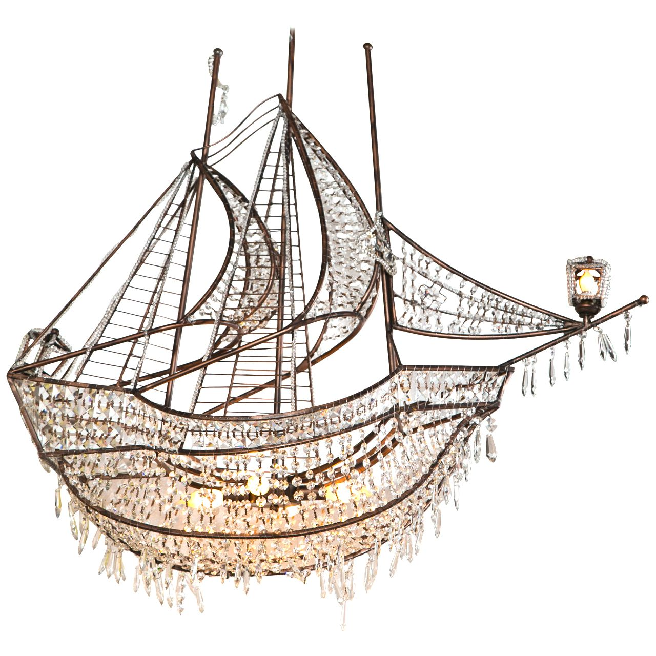 Decorative iron and crystal ship chandelier chandeliers iron and decorative iron and crystal ship chandelier 1stdibs mozeypictures Images