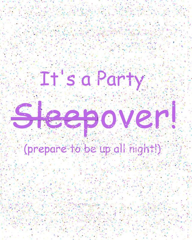 Tween Sleepover Invitation Free Printable – orderecigsjuice.info