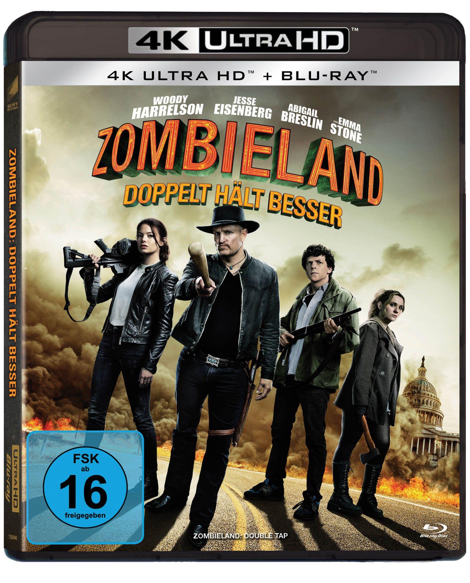 Zombieland Doppelt Halt Besser 4k Ultra Hd Uhd Blu Ray Disc Zombie Blu Ray Zombie Apokalypse