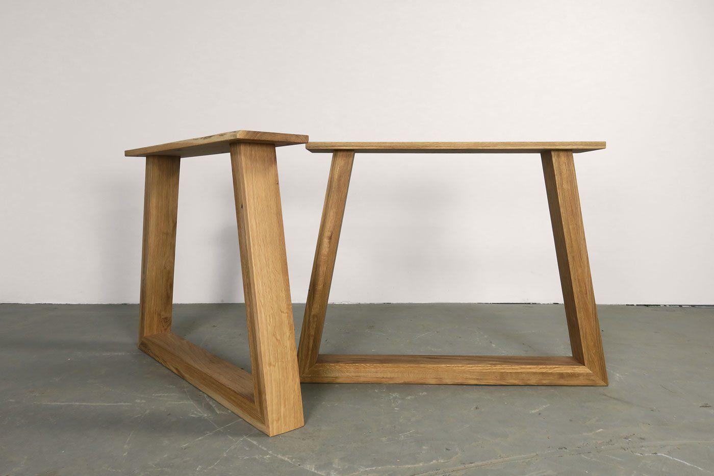Eiche Tischgestell Massiv Kennet Festgrosse 2er Set Tischgestell