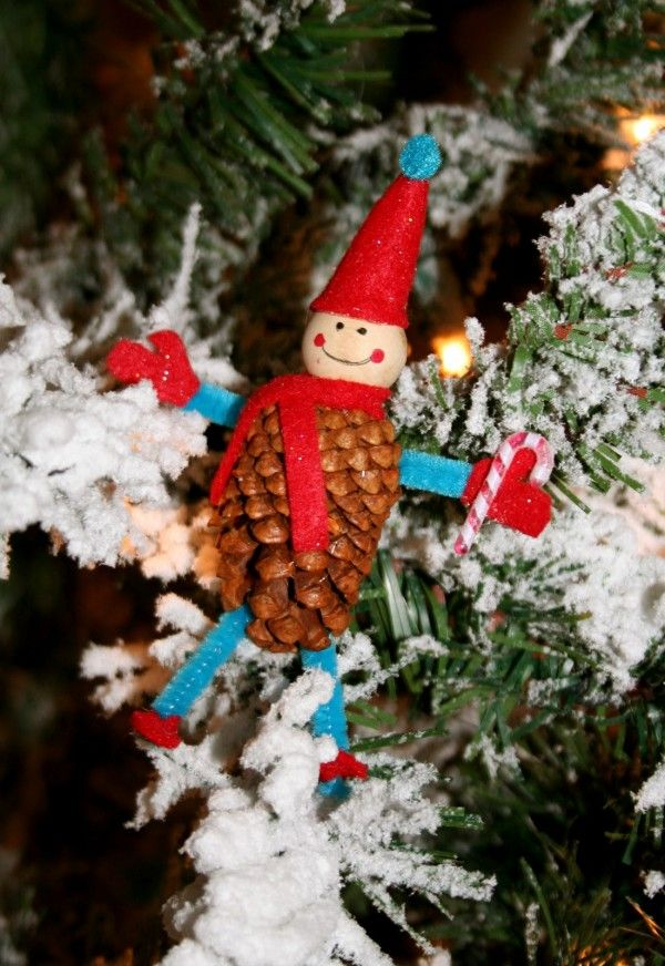 Christmas Craft Ideas 2013 Part - 21: 2013 Christmas Pine Cone Elf Ornaments. How To DIY Christmas Elf. See More  At