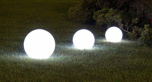 Lampade palla a led per esterni luci casa pinterest