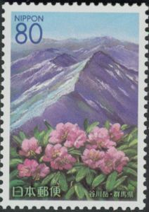 Azuma rhododendron & Tanigawa Mountain range