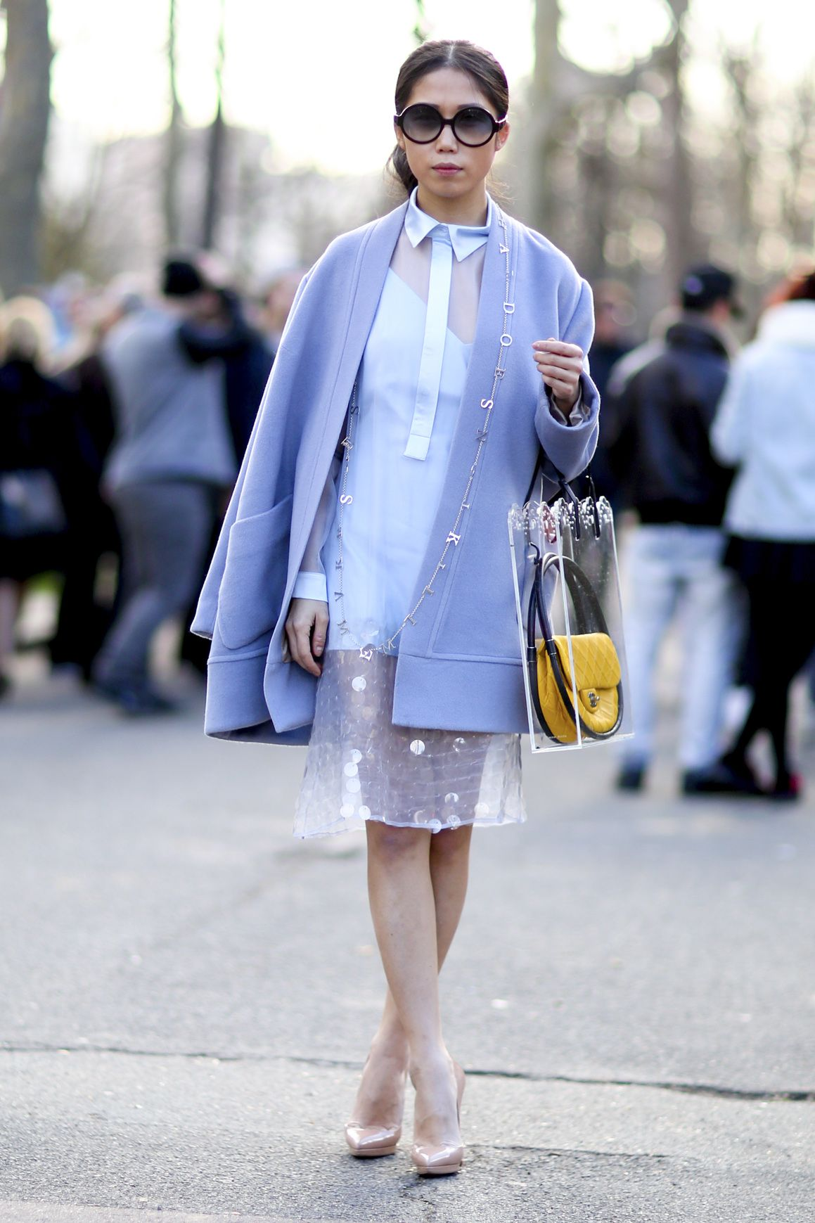 20 Amazing Outfits That Prove Pastel Blue Coats AreTrending