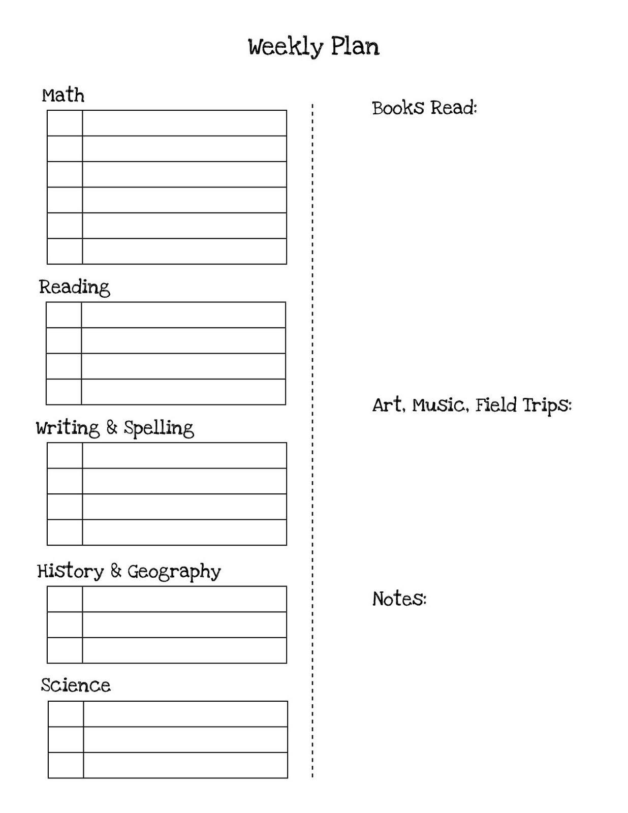 weekly_checklist4.jpg 1,236×1,600 pixels Homeschool