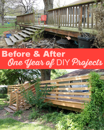 Looking back on a year of budget DIY renovations to our small ranch style house.