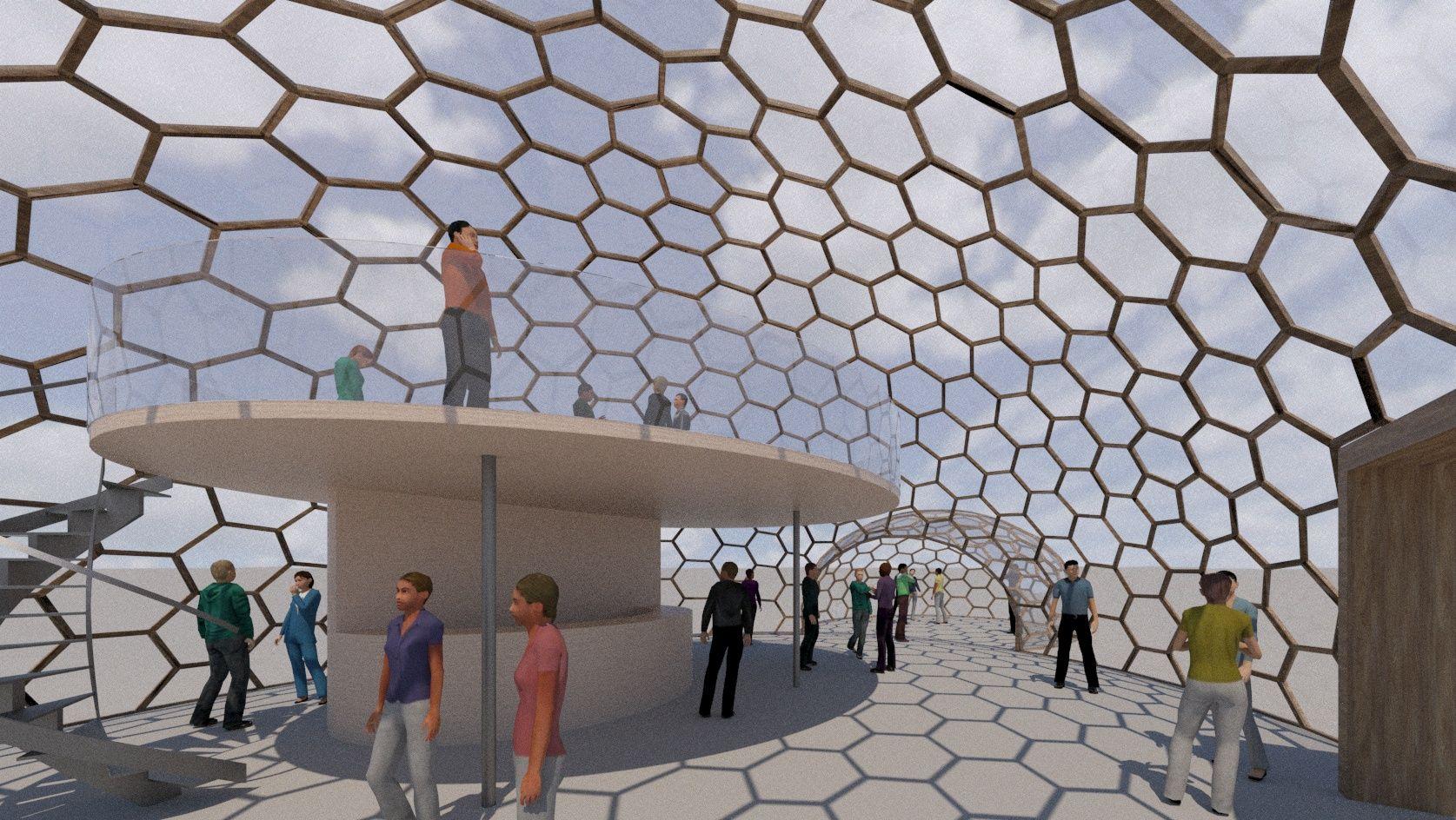 Dome Shape Transparent Pavilions In 2020 Dome Structure Pavilion Architecture Dome