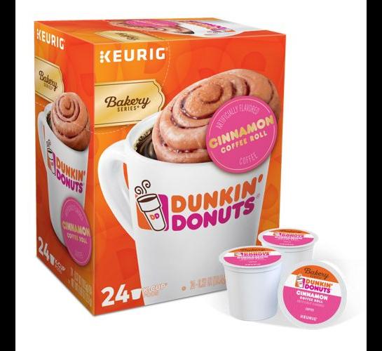 Dunkin Donuts Cinnamon Coffee Roll Coffee 24 to 144 Keurig