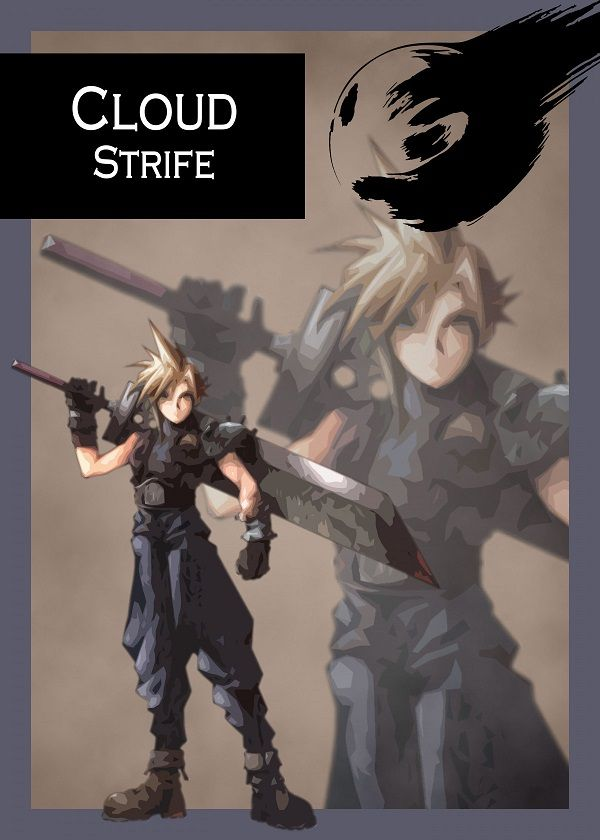 Final Fantasy VII Characters Displate Posters