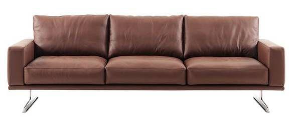Boconcept Carlton 3 Seater Leather Sofa Barely Used Sofa