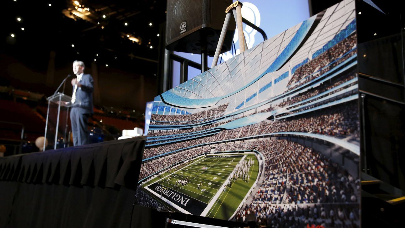 Rams To Break Ground On 2 6b Stadium Thurs Sports Stadium Stadium Los Angeles Rams