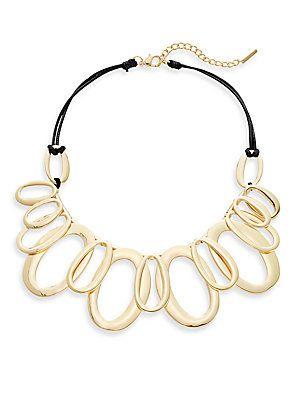 Saks Fifth Avenue Multi-Link Station Necklace/Goldtone - Gold - Size N