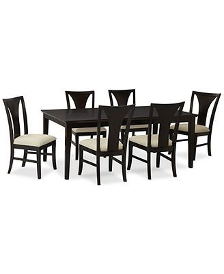 edgewater 7piece dining table set table u0026 6 side chairs