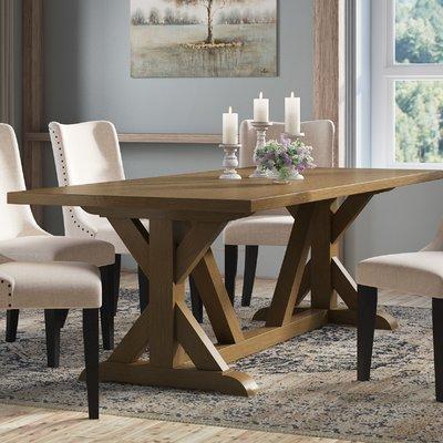 Laurel Foundry Modern Farmhouse Sydney Solid Wood Dining Table Color Wood Dining Table Wood Dining Room Table Solid Wood Dining Table
