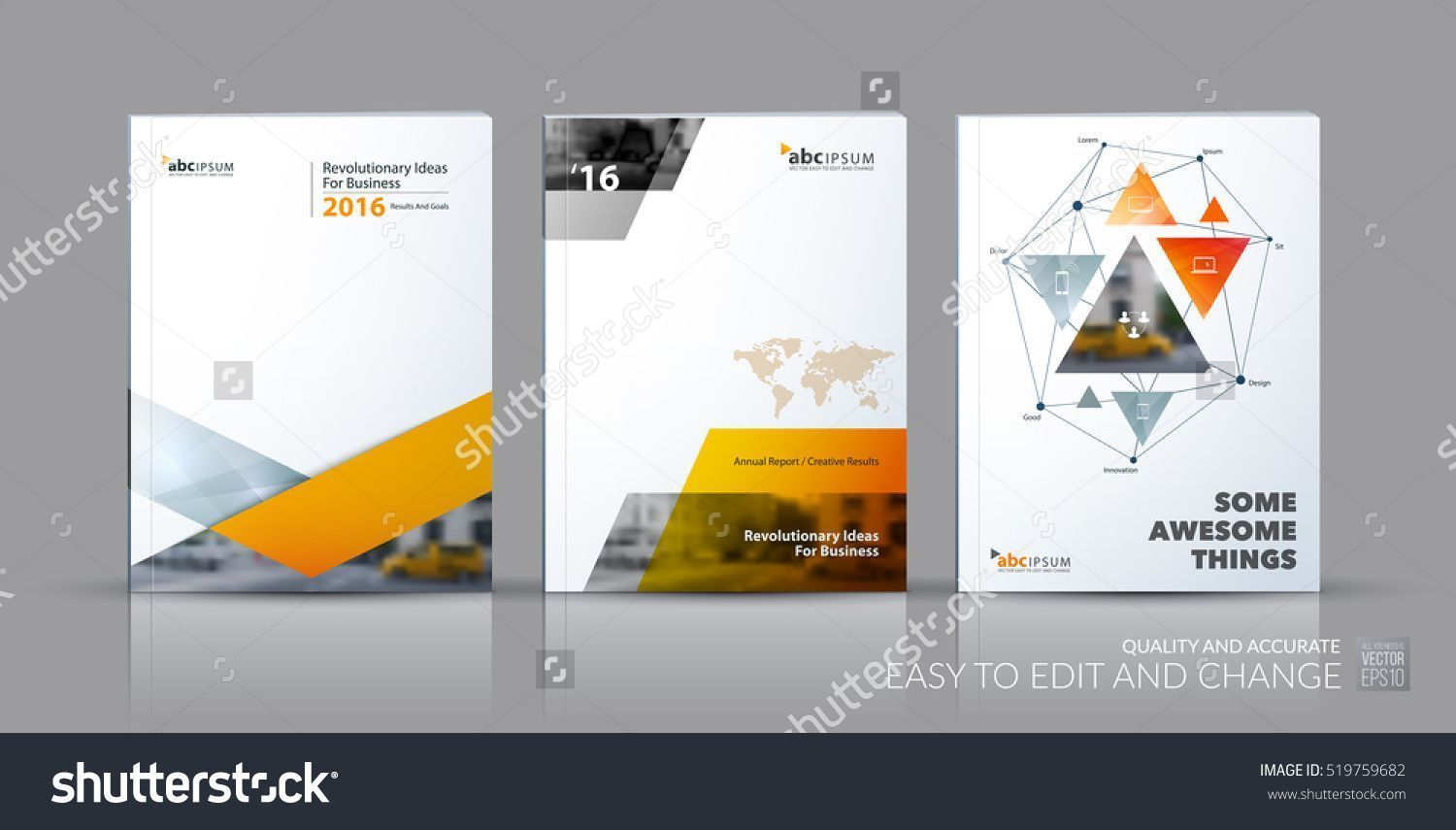 Business Vector Set Brochure Template Layout Cover Design Annual