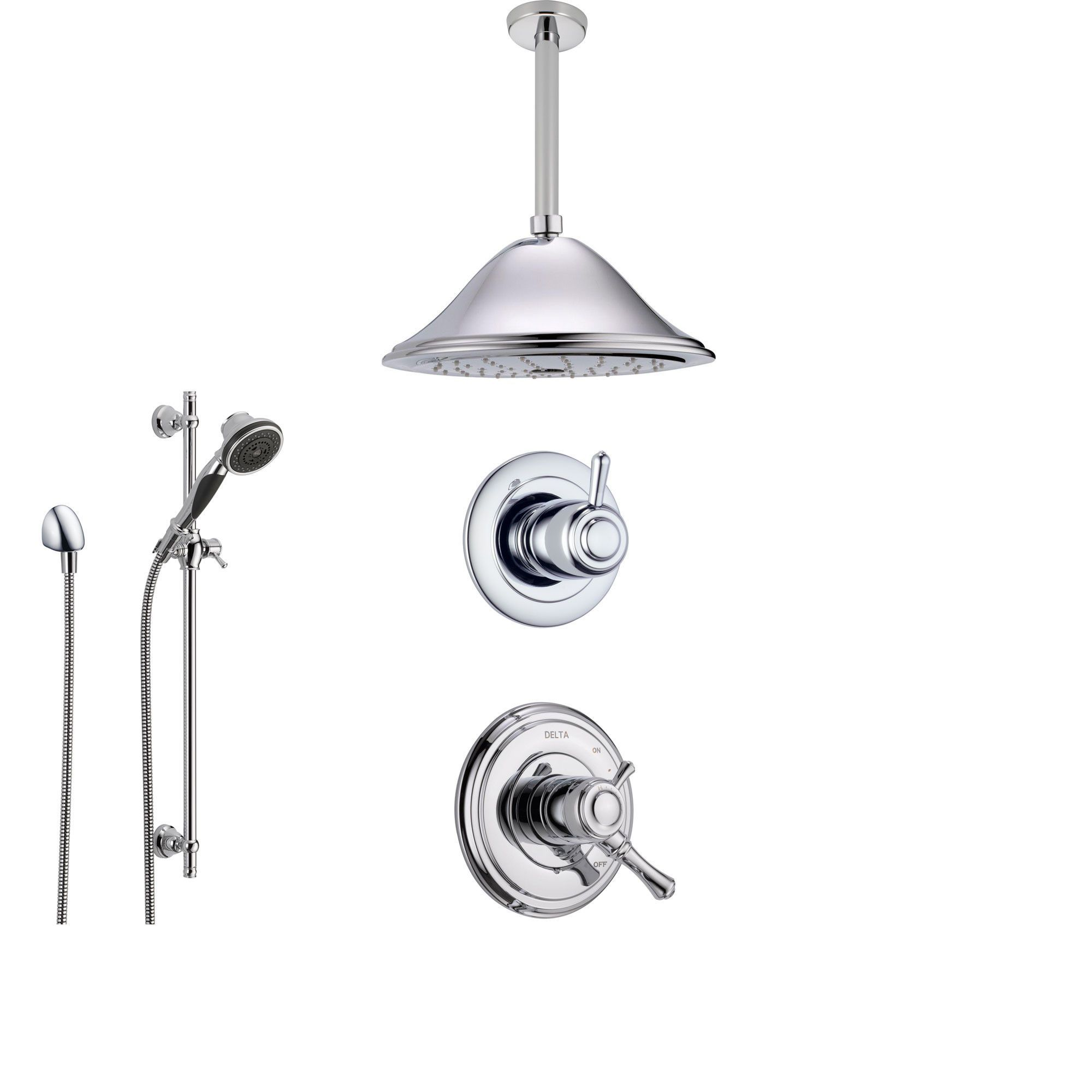 Delta Cassidy Chrome Shower System With Dual Control Shower Handle
