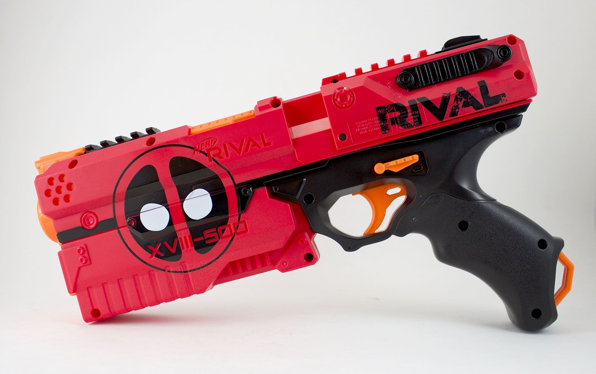 Hasbro's Nerf Deadpool Kronos XVIII-500 blasters from Gamestop