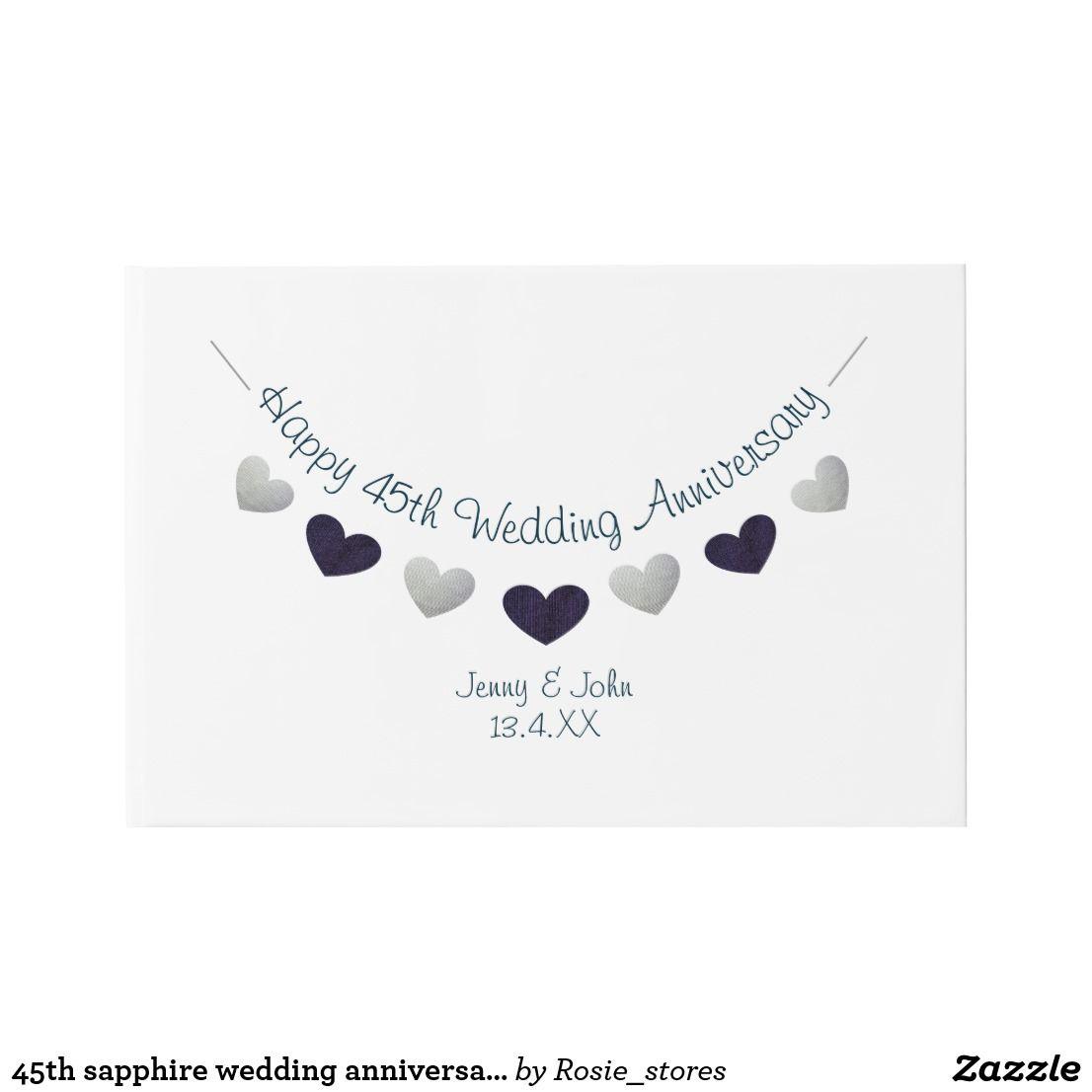 45th sapphire wedding anniversary bunting design guest