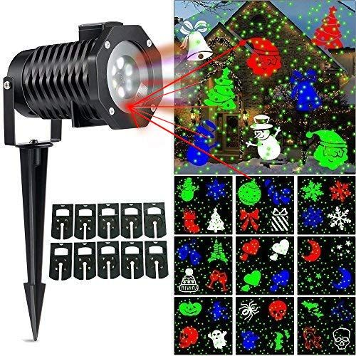Review Ucharge Christmas Laser Light, Newest Version Snowflake Led