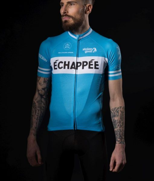 Buy Stolen Goat Men s Limited Edition - Echappee Blue Cycling Jersey ... 8137fb4b4