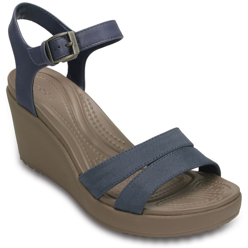 Crocs™ Leigh II Ankle Strap Wedge (Women's) wGyBV