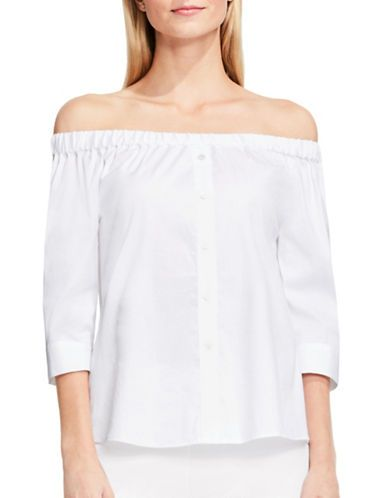 df30bcde1e09f3 Vince Camuto Solid Off-the-Shoulder Blouse Women's White Medium ...