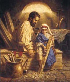 Weihnachten Im Christentum.Saint Joseph The Worker Mary And Jesus Weihnachten Geburt Jesu