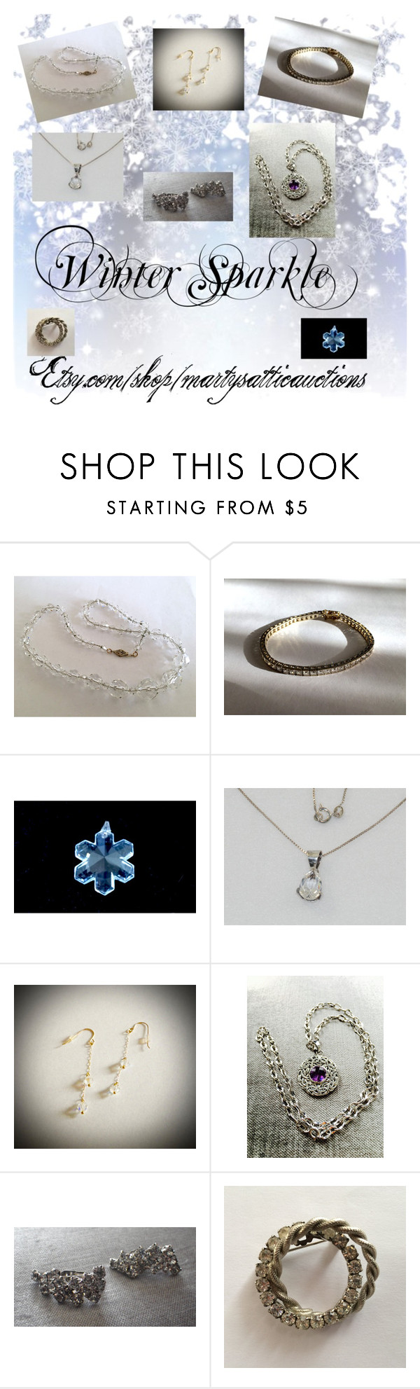 """Time for some Winter Sparkle!!"" by martysattic ❤ liked on Polyvore featuring martysatticauctions"