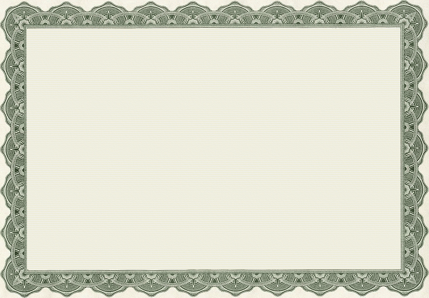 Formal certificate border free Look at your word