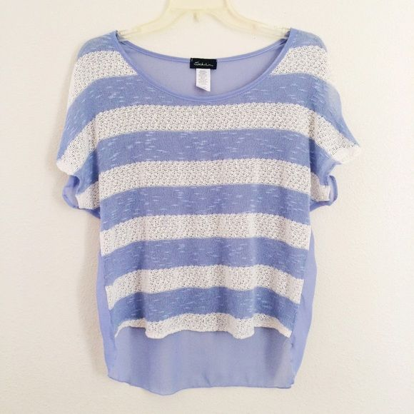Lavender Striped Crop Top ncwWNW