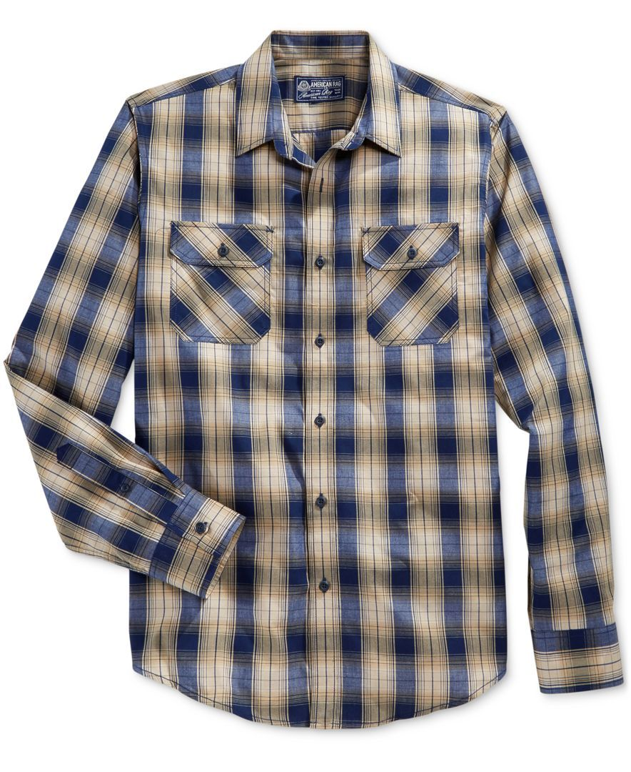 Flannel shirt knot  American Rag Menus Nathaniel Plaid Shirt Only at Macyus  Products