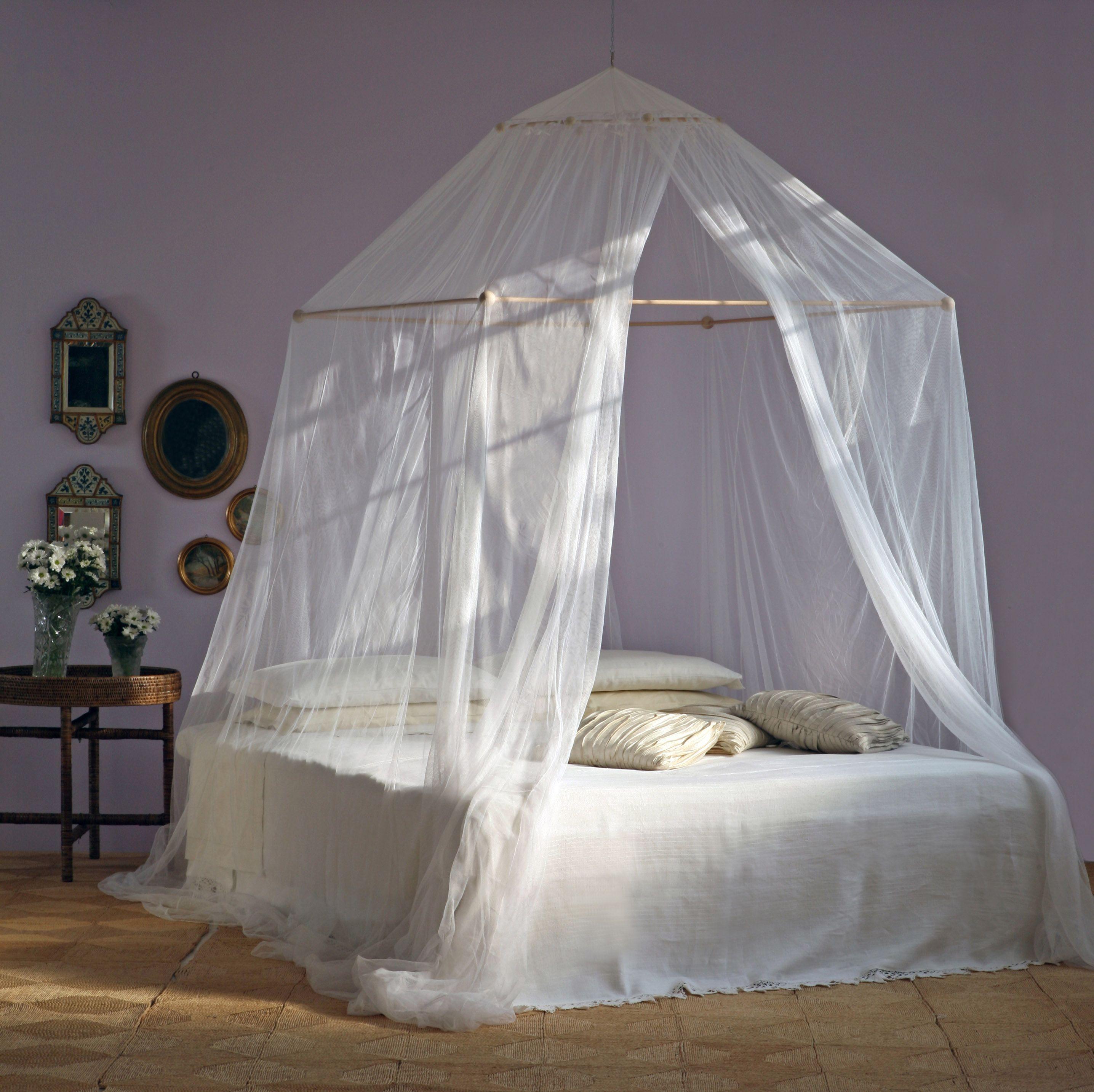 Tina zanzariera a doppio telaio per letto matrimoniale zanzariera letto baldacchino - Zanzariera letto ...
