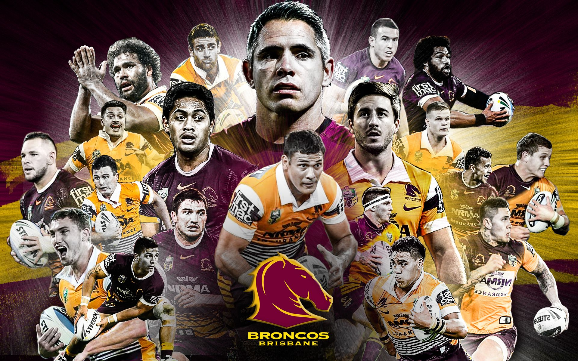Brisbane Broncos Wallpaper Sports Graphic Broncos Wallpaper Brisbane Broncos Broncos