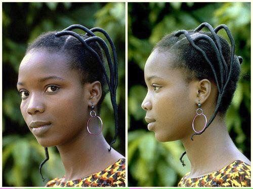 Good old threading hairstyle, use to love it, growing up ...