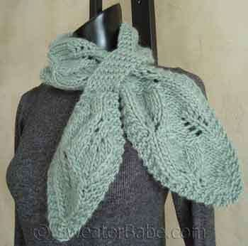 Download This Leafy Scarf Pattern to Knit This Fall {Through June 30 ...